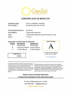 Aspen Centronuclear Myelopathy Certification