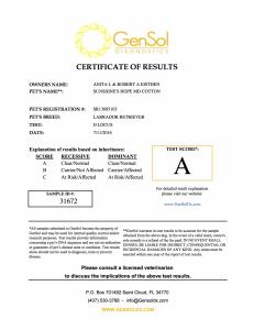 Aspen D Locus Certification