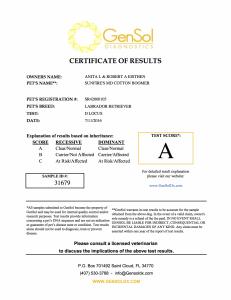 Boomer D Locus Certification