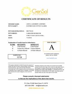 Cali Curly Coat Certification